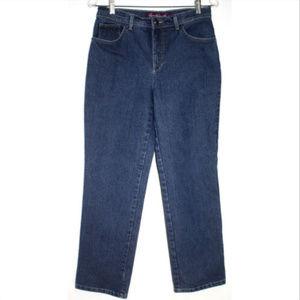 Gloria Vanderbilt Sz 8 Blue Jeans Tapered Straight